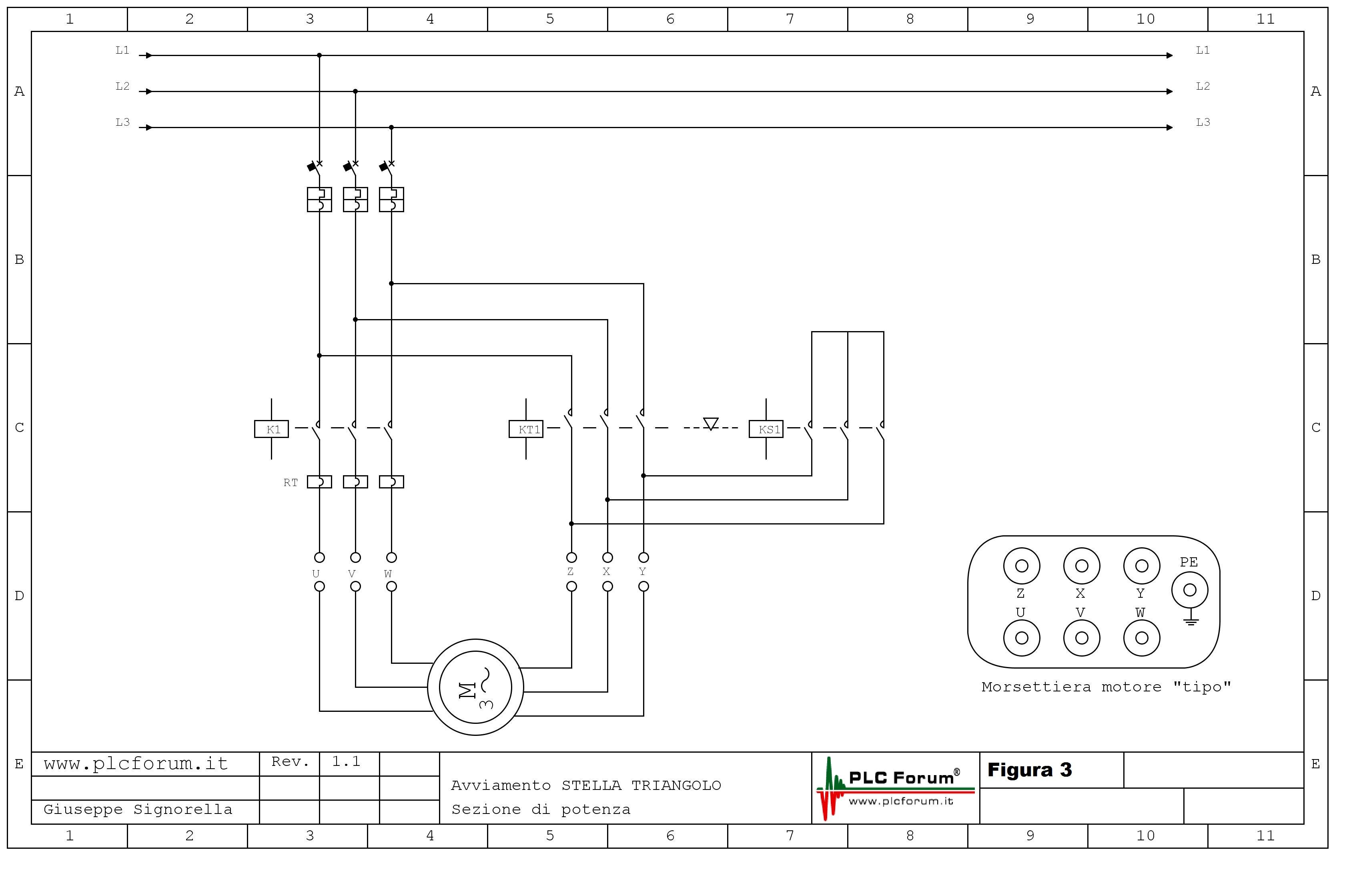 Schema Collegamento Motore Trifase A Due Velocita : Schema elettrico avviamento motore stella triangolo car