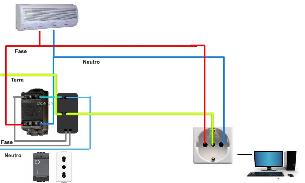Schema Elettrico Interruttore E Presa : Collegamenti elettrici presa e interruttore